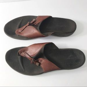 Merrell women's brown leather sandals size 11